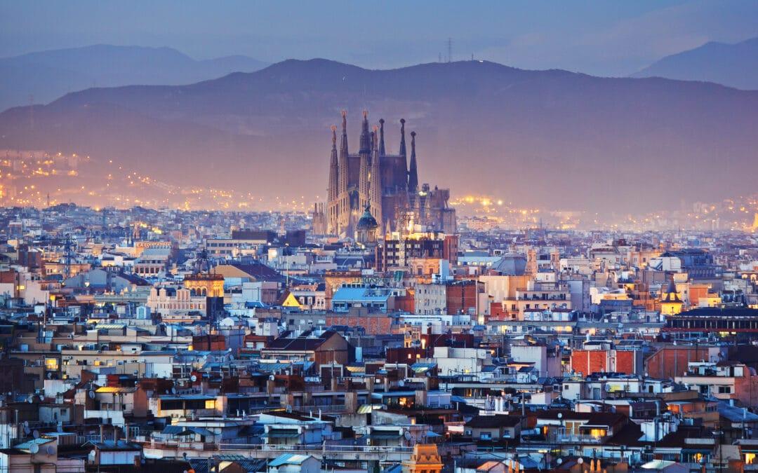 Barcelona at night, The Superyacht Show Barcelona