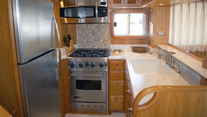 """Galley Kadey-Krogen 44AE Trawler """"Sweet Ride"""" - Boat Review"""