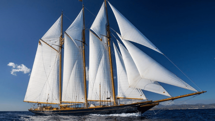 "1902 Townsend & Downey Topsail Schooner Sailing Yacht ""SHENANDOAH"" - Legends of the Seas"