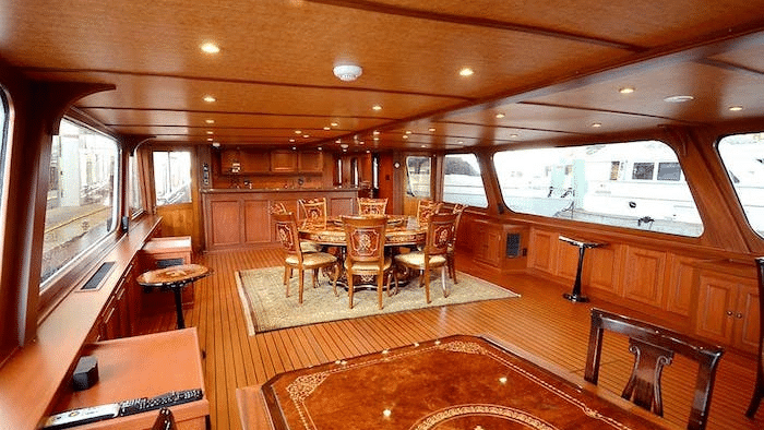 "interior 1920 Camper and Nicholson Classic Motor Yacht ""Grey Mist"" - Legends of the Seas"