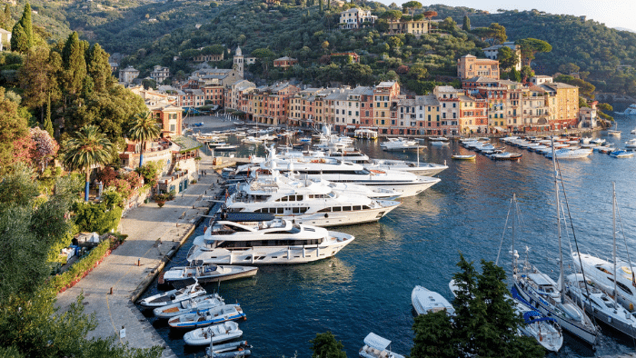 luxury yachts in the harbor, Chartering a Yacht Versus Going On a Cruise Ship