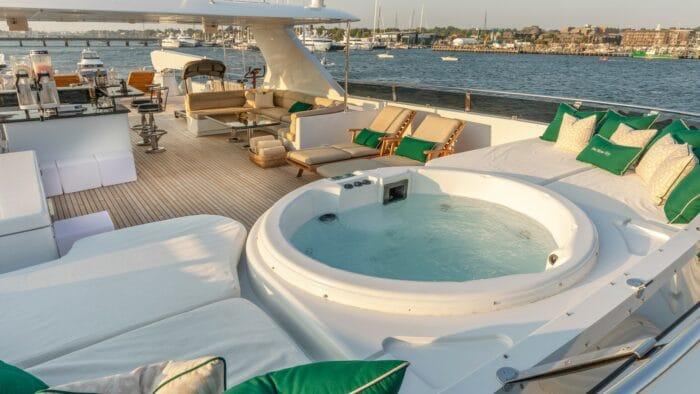 2001 Christensen Tri Deck Motor Yacht ONE MORE TOY entertaining area