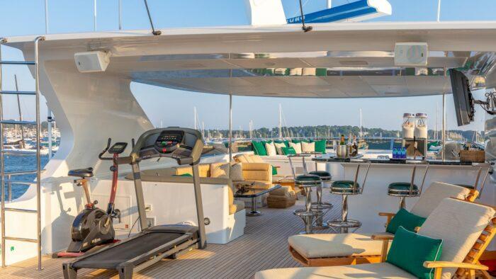 2001 Christensen Tri Deck Motor Yacht ONE MORE TOY deck