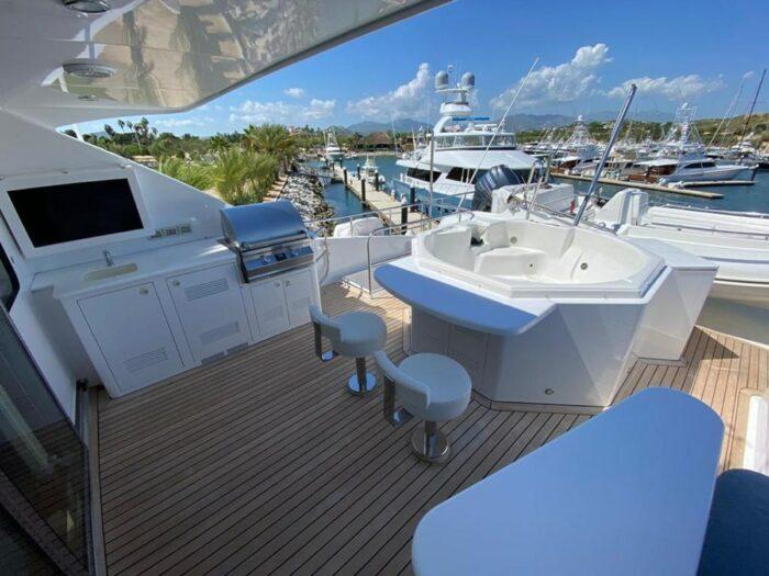 2011 103ft Cheoy Lee Cockpit Sky Lounge BLUE STEELE deck