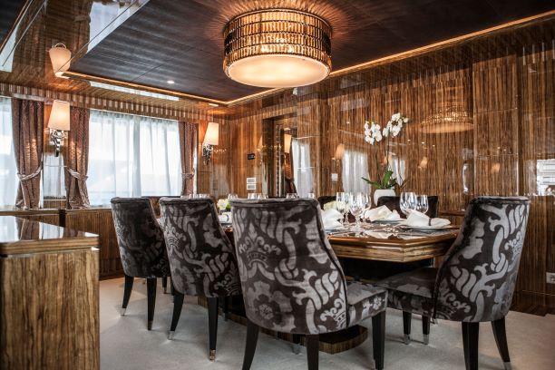 2012 Mondomarine Motor Yacht OKKO main deck dining