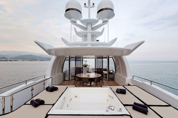 2012 Mondomarine Motor Yacht OKKO sun deck