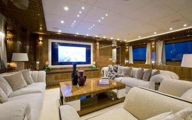 2012 Mondomarine Motor Yacht OKKO upper deck salon