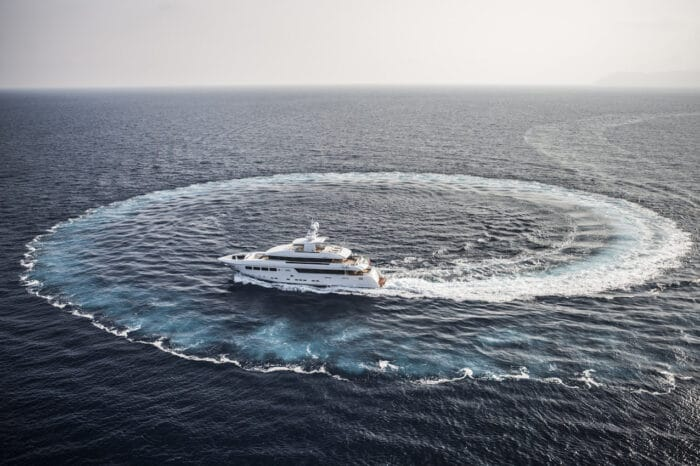 2012 Mondomarine Motor Yacht OKKO aireal view