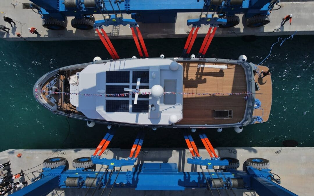 Bering Yachts' B77 VERONIKA Successfully Launches in the Free Zone of Antalya, Turkey