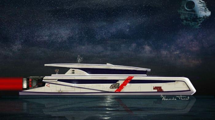 Hydrogen-Powered CORELLIAN 110 Catamaran