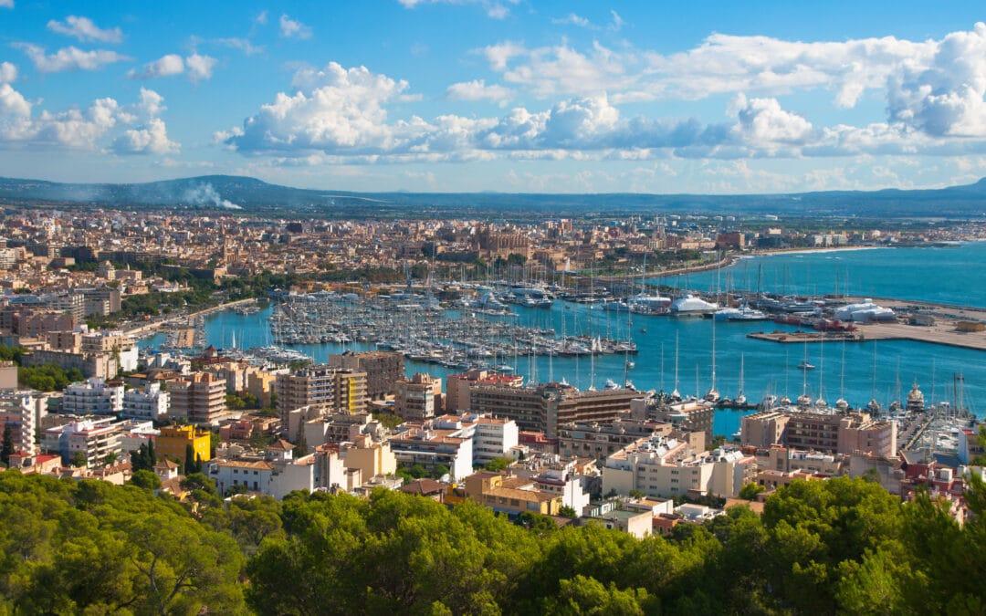 The City Palma de Majorca from a bird's eye view