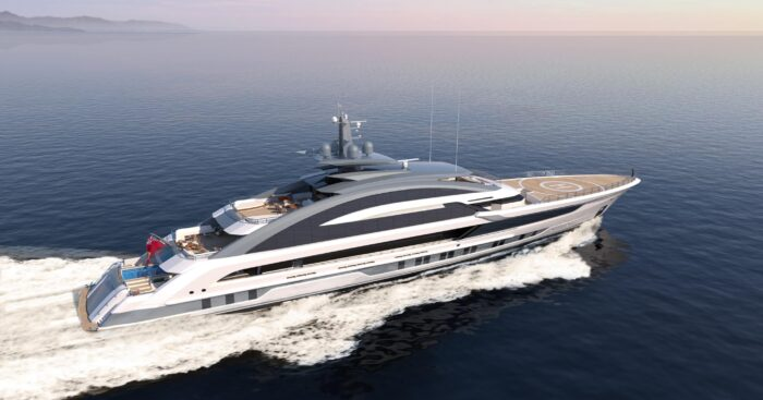 When asked about its most unique build, Sara Gianola of Heesen Yachts replied with a new Cosmos superyacht project currently under construction. Aft view.