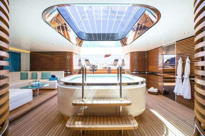 86m Sailing Yacht AQUIJO Enters the Yachts for Sale Market, yacht interior