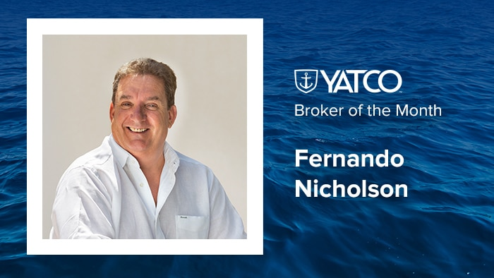 Fernando Nicholson of Camper & Nicholsons Broker of the Month