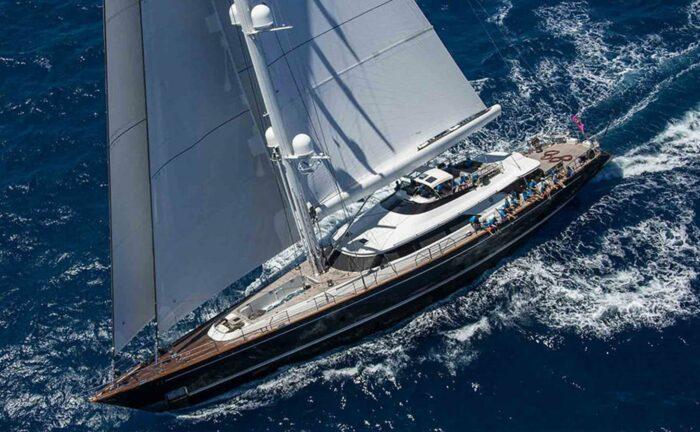 "147' 8"" Cruising Sailboat CLAN VIII, Top Three Classic Perini Navi Sailing Yachts"