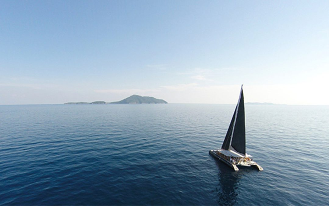 a catamaran crossing the Atlantic
